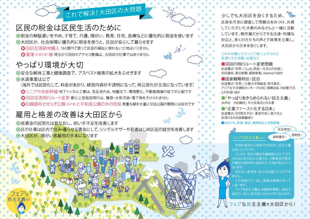 奈須りえの基本政策